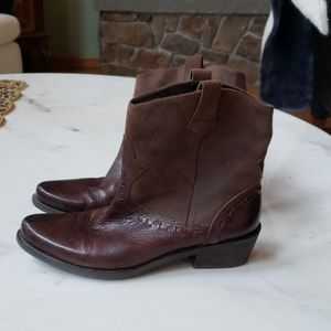 Franco Sarto brown suede & leather boots 8m